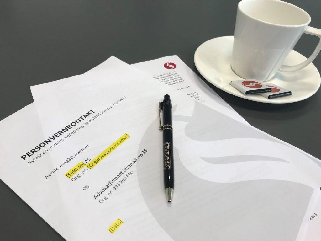 Bistandsavtale innen GDPR